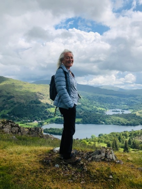 Hilary looking over towards Grasemere and Rydal