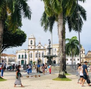 The main square in Salvador, Terreirro de Jesus