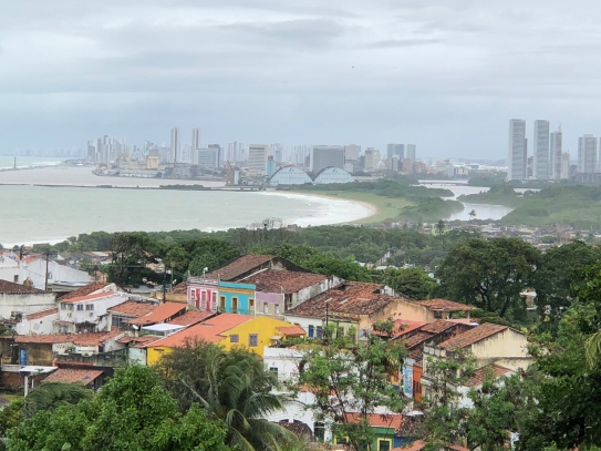 View through the drizzle to Recife
