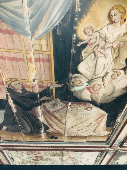 Detail of ceiling on the sacristy
