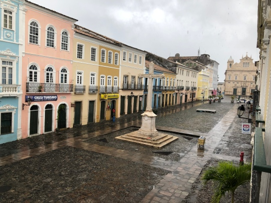 A wet and deserted Salvador