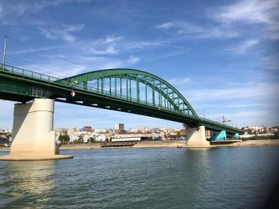 Modern bRidge over ancient river..