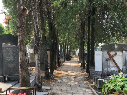 The old cemetery with Jewish, Orthodox and Catholic graves