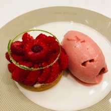 Raspberry tartlet, divine pastry