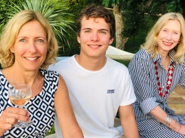 Jen with son Nick and Clare