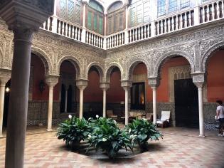 the main courtyard at Casa Salinas