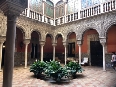 the main courtyard at Casa Salinas