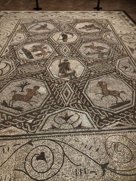 The Roman mosaic in the second courtyard