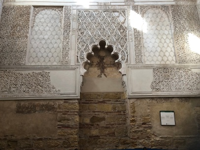 In the synagogue the inscriptions that remain are of psalms and scriptures
