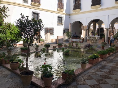 Traditional courtyard in the hotel