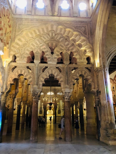 The hybrid styles of Moslem and Christina architecture begin