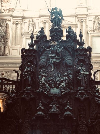 The hideous Cuban mahogany altar piece commissioned by Charles V