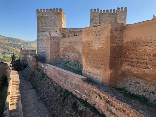 The walls of the ALcazaba