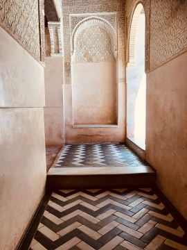 The only remaining original marble floor