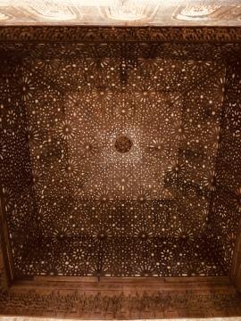 The ceiling in the Palacio de Comares