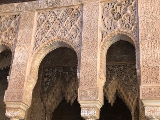 dEtail from one of the porticos