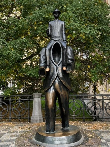 Famous Kafka statue