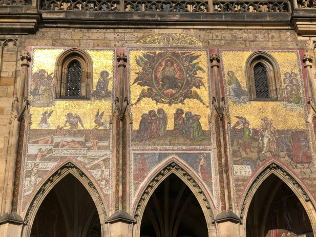 The newly cleaned mosaic at St Vitus cathedral