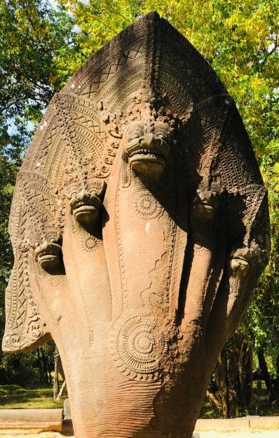 AN original Naga guarding the entrance to Beng Mealea