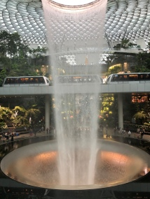 The extraordinary waterfall at The Jewel Mall in Singapore Airport!