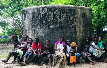 An old water tank where all the women gathered