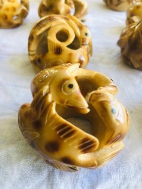 Carved sago nuts