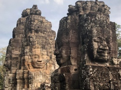 At least five faces here at Bayon