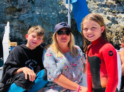 Missy with Lachlan and HOlly