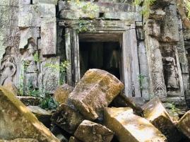 Great boulders lie strewn across the site
