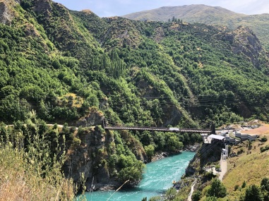 The Kawarau Gorge bridge. Bungy just behind