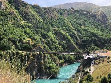 The Kawarau Gorge bridge. Bungy just behind