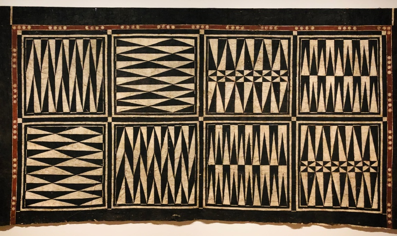 A Fijian bark-cloth room divider - huge!
