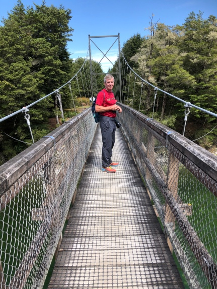 Another swing bridge - the longest in NZ