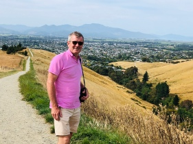 Roos overlooking Blenheim form the Wither Hills walk