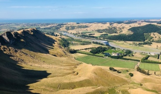 Looking down on to Craggy Range from Te Mata