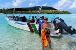 Vicky at Aitutaki
