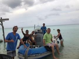 Arriving on Toau island