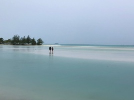 The Ootu lagoon as the storm gathers
