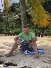 Chilling on the beach in Moorea