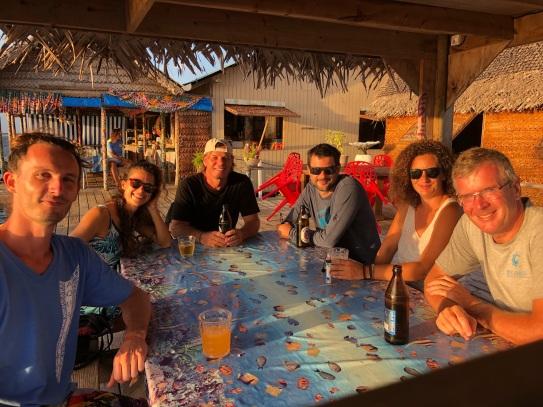 Sundowners at Fakarava dive centre
