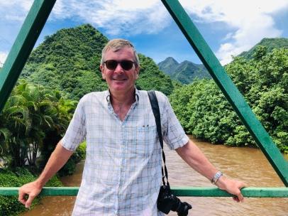 Ross on Tahiti Iti - looks like St Lucia!
