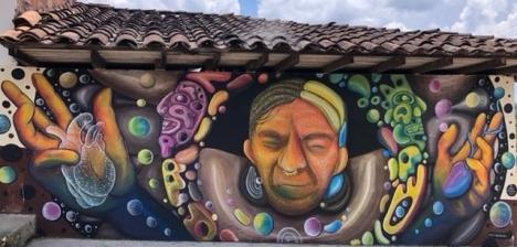 Mural in San Agustin