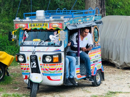 Tuk tuks are highly decorated