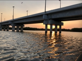 Thr main bridge into Cartagenga over the swamp