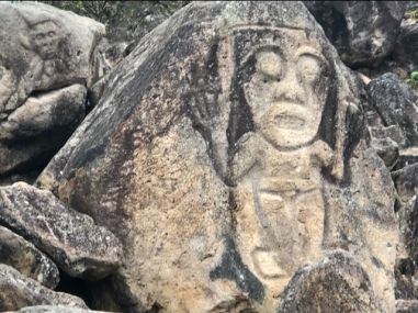 Carved into the hillside down the steep steps towards the Magdalena river