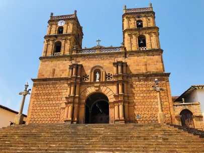 The golden church in Barichara