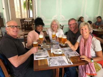 A celebratory beer