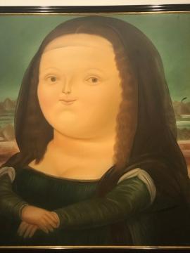 Botero's Mona. Lisa