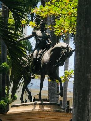 Bolívar of course, everywhere