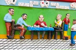 The gambling den